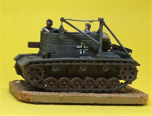 Resin 1:100 scale 15mm Bergpanzer III Paint and Glue Miniatures. Not Quite Mechanised
